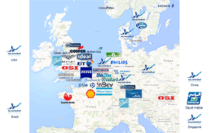 Our Client base is concentrated in Europe, with global coverage